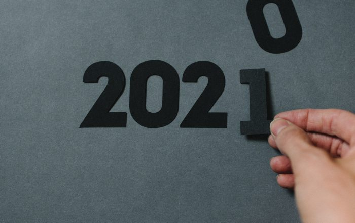 Image of 2020 changing to 2021, looking at channel predictions and preparing for the upcoming year
